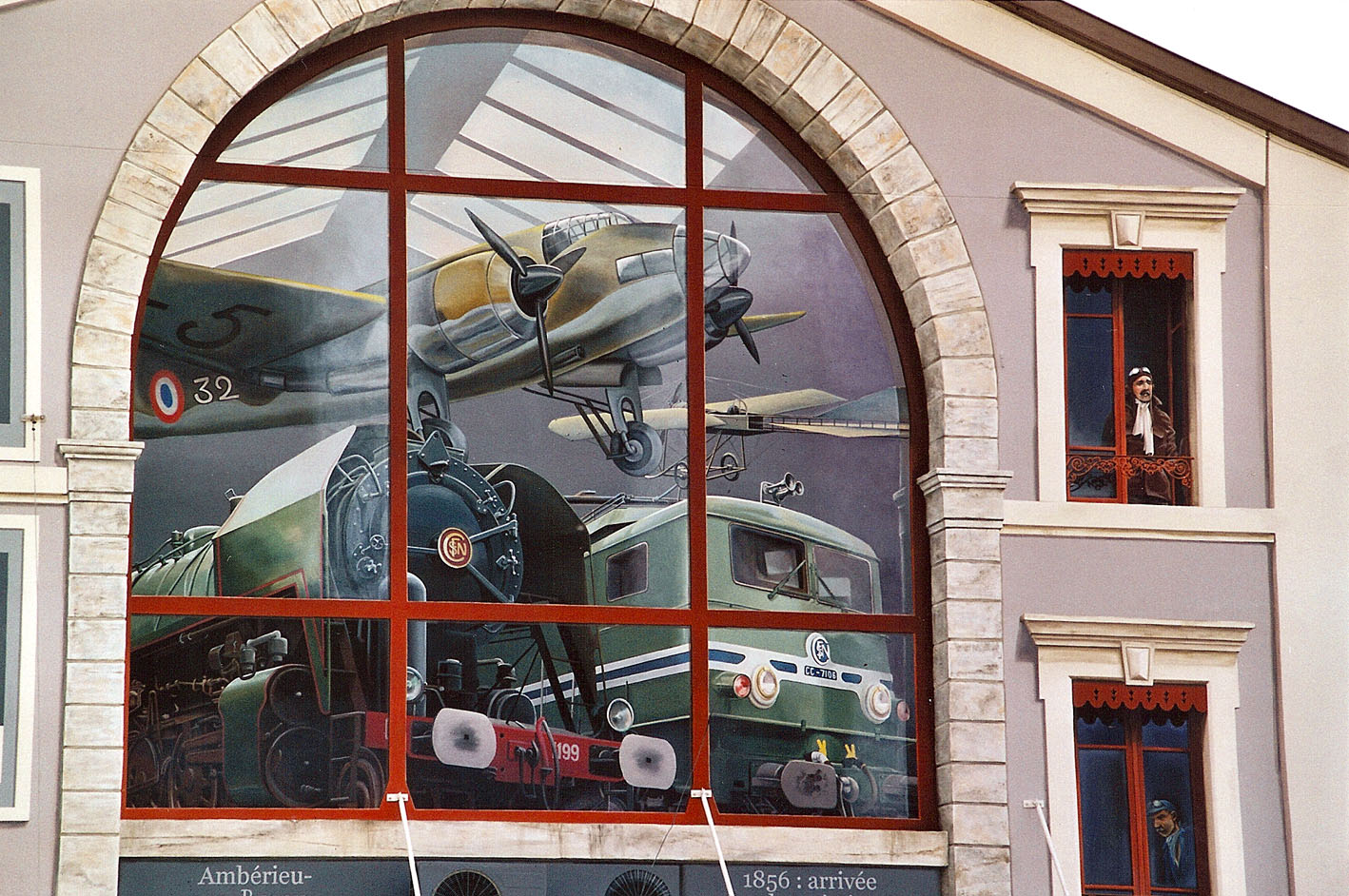 amberieu berceau du et de l aviation 187 les trompe l œil 187 vincent ducaroy fresques